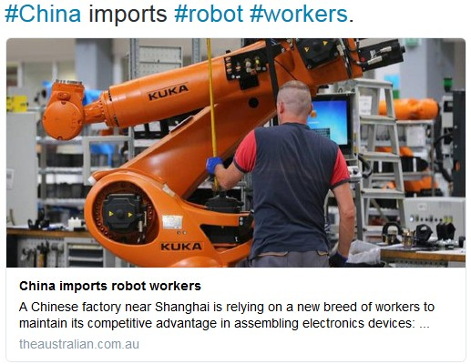 China import robot workers