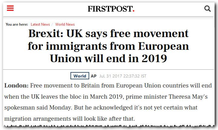 Brexit immigrants